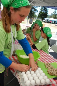 Preparing for outdoor cooking at the Sonoma Day Camp